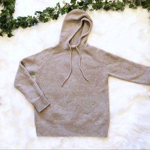 J. Crew Tan Lambswool Hooded Pullover Jacket